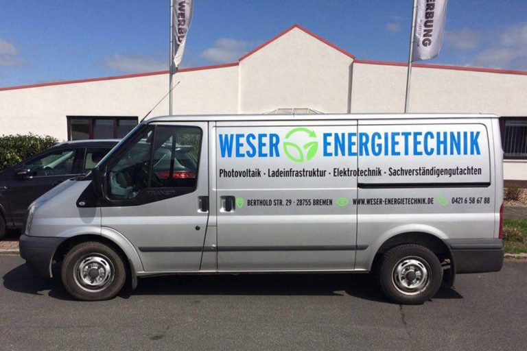 Firmenfahrzeug Weser Energietechnik